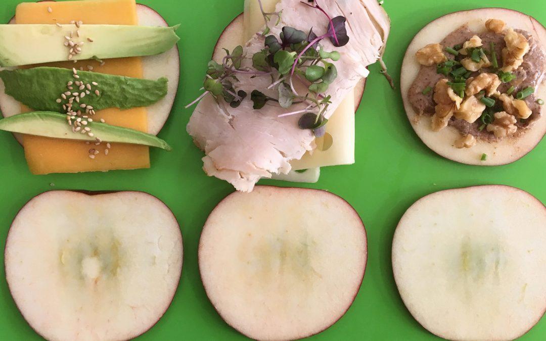 Apple Slice Sandwiches