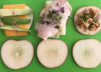 Apple Slice Sandwiches
