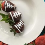 Dark Chocolate Covered Strawberry Footballs