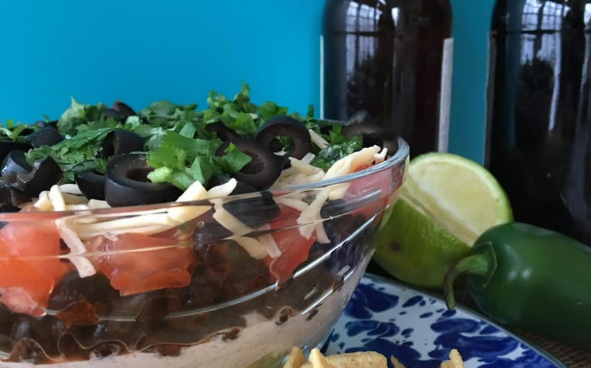 Healthier Seven Layer Dip