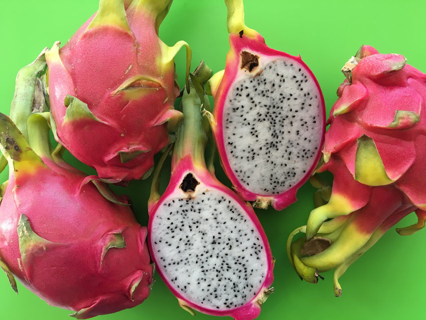 pitaya fruit cut open