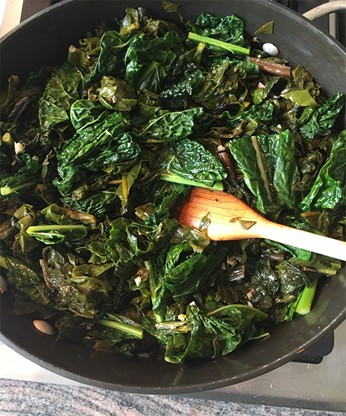 Garlicky Beet Greens