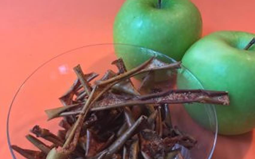 Baked Apple Skin Crisps with Orange Zest
