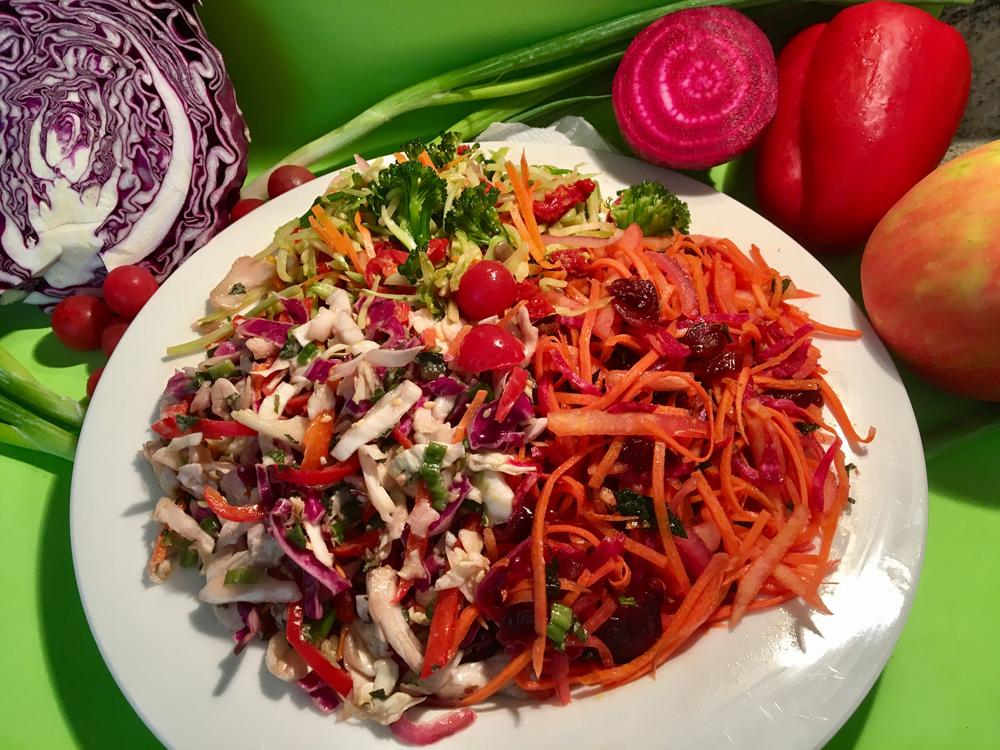 raw slaw salad by kristen coffield