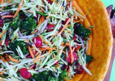 Broccoli and Asian Pear Slaw