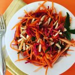 Carrot, Beet & Apple Slaw with Cranberries