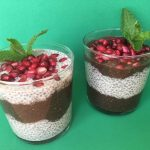 Chocolate, Vanilla & Pomegranate Chia Parfaits
