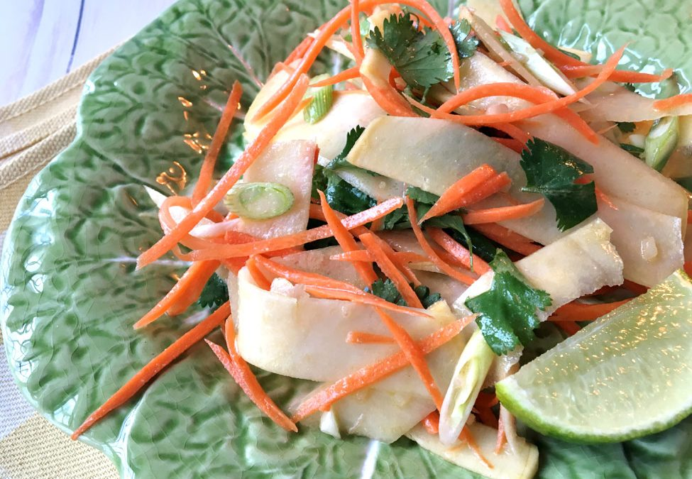 Asian Style Rutabaga & Carrot Salad