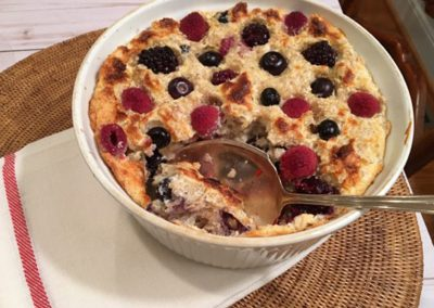 Oatmeal and Berry Soufflé