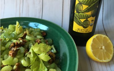 Celery, Celery Leaf & Walnut Salad
