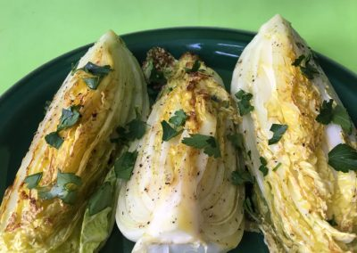 Roasted Napa Cabbage with Garlic