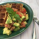 Avocado Almond Waffles recipe by the culinary cure