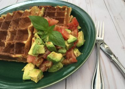 Avocado Almond Waffles