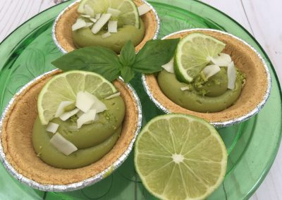 Avocado & Lime Tarts