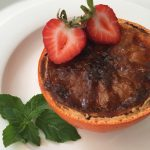vegan pink Grapefruit Brûlée Recipe by kristen coffield of the culinary cure