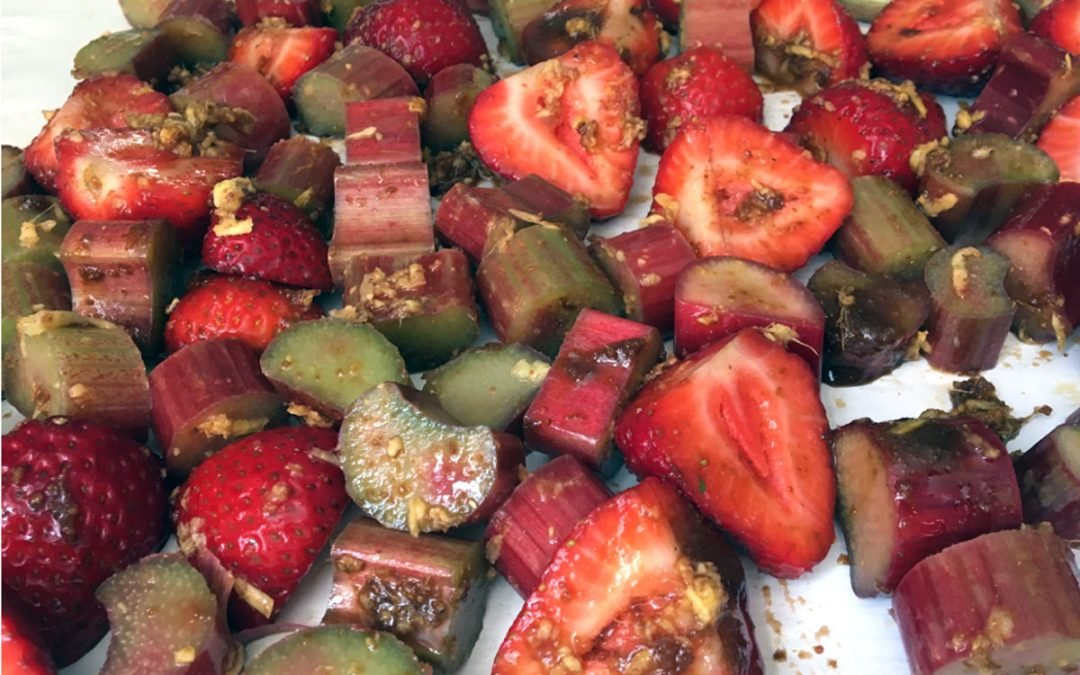 Oven Roasted Strawberries with Rhubarb and Ginger Recipe