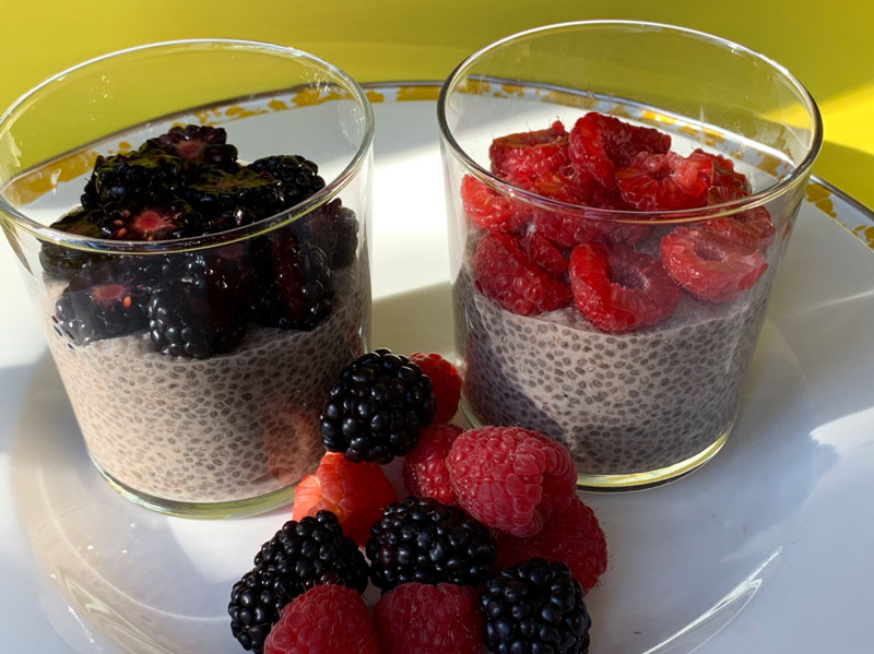 Chia Seed Pudding with Cinnamon and CBD