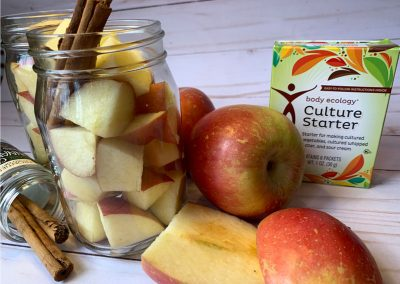 Lacto-Fermented Apples and Cinnamon