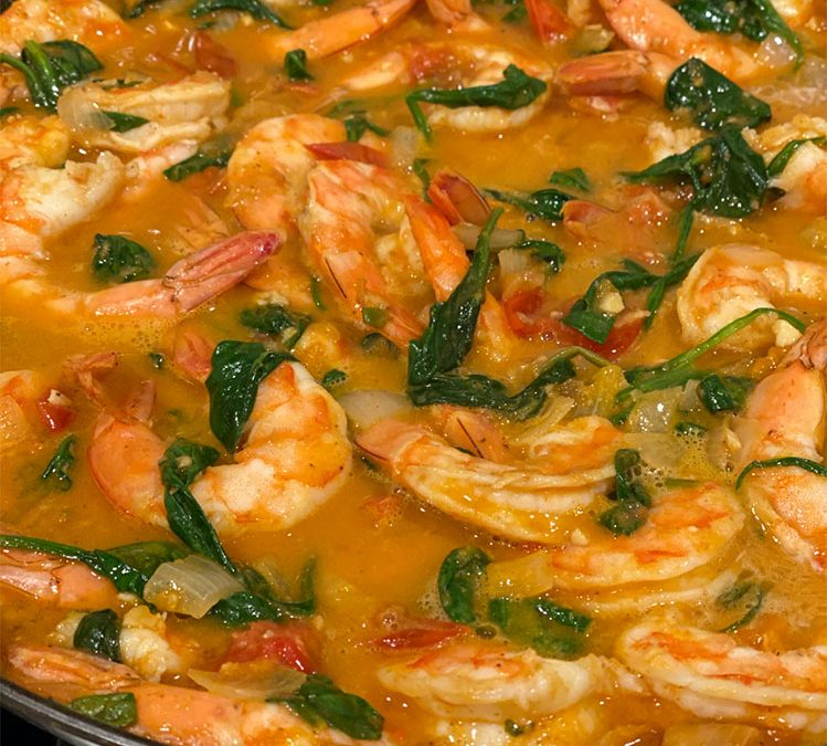 Spicy Ginger Shrimp and Spinach Recipe