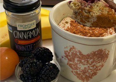 Banana Berry Microwave Mug Muffin Recipe